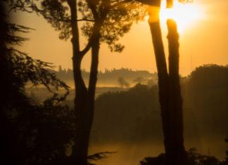 wschód słońca w Rzymie