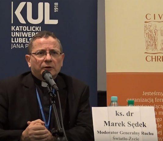 ks. Marek Sędek Moderator Generalny Ruchu Światło-Życie