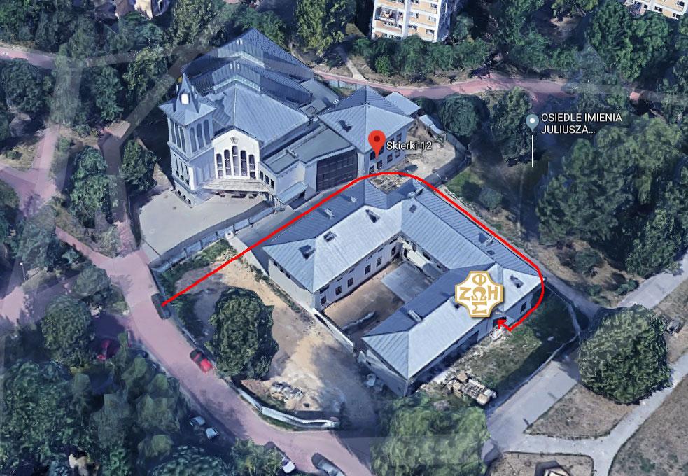 mapka jak wejsc do Centrum